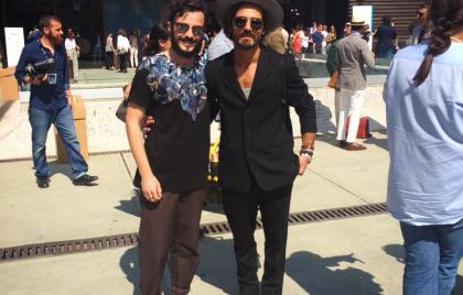 Matteo con il fashion blogger Giotto Calendoli