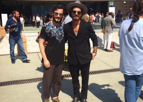 Matteo con il fashion blogger Giotto Calendoli